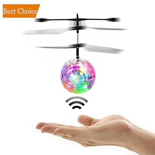 Infrarouge Induction Suspension Mini Flying Ball Flash Disco Colorful LED Lumière Hélicoptère Glowing Télécommande Aircraft Enfants Jouets