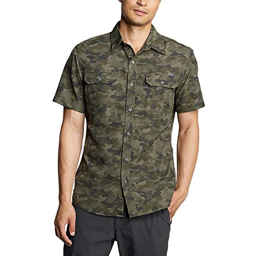 Eddie Bauer Men's Mountain Short-Sleeve Shirt - Print,