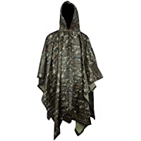 Vcansion Military Poncho Outdoor Poncho Raincoat Ripstop + Mylar Space  Blankets ef01074bd802