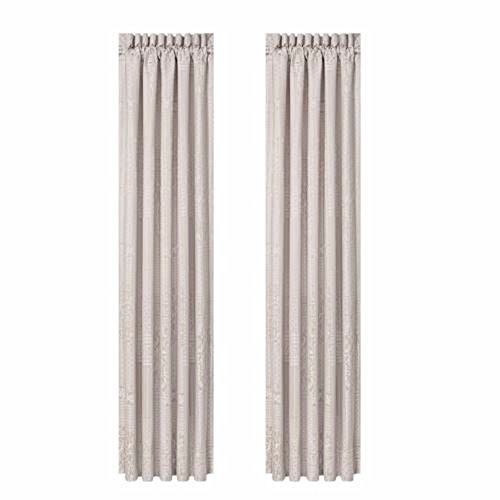 J Queen New York Wilmington Alabaster Curtain Pair - 84 Inches Long