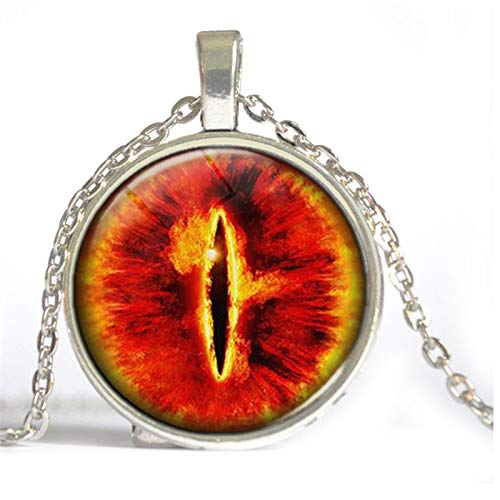 Goonpetchkrai.rapat7498 Glass Eye Pendant Western Jewelry Eye Sauron time gem Necklace aliexpress Supply (Western Gems Pendant)