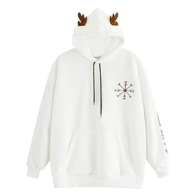 Yvelands Suéteres para Mujeres, Sudaderas para Mujer Sudaderas con Capucha de Invierno Camisa de Manga. Pasa el ratón por ...