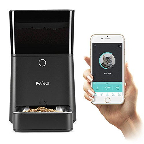 2017 New Petnet SmartFeeder, Automatic Pet Feeder for Cats and Dogs, Works with Amazon Alexa