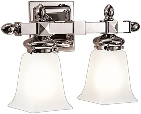 B000IE0KQ2 Hudson Valley Lighting 2822-PN Cumberland 2 Light Bath and Vanity, Polished Nickel 41eHYVSSSkL