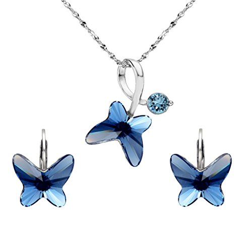 Elequeen Sterling Butterfly Leverback Swarovski Review