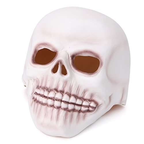 Fancy Dress Latex Masks (Misright Halloween Latex Skull Mask Full Face Fancy Dress Cosplay Masquerade CostumeParty)