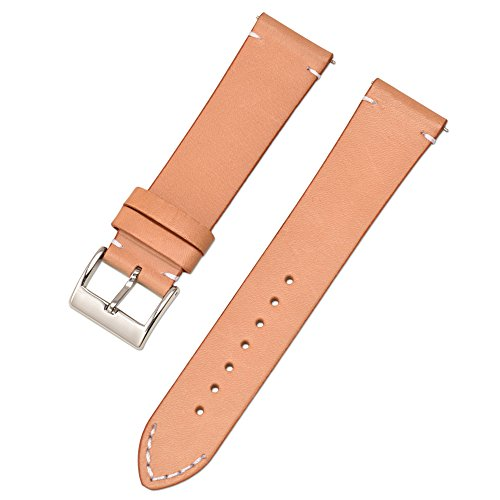 Quick Release Apricot Genuine Leather Watch Bands 12mm 14mm