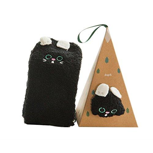 Dikley-Christmas-Women-Socks-3D-Cartoon-Casual-Crew-Socks-Fuzzy-Cozy-Socks-with-Gift-Box-1-Pair
