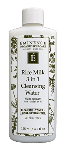 Eminence Organic Skincare Rice milk 3 in 1 cleansing water 4.2 fl oz, 4.2 Ounce