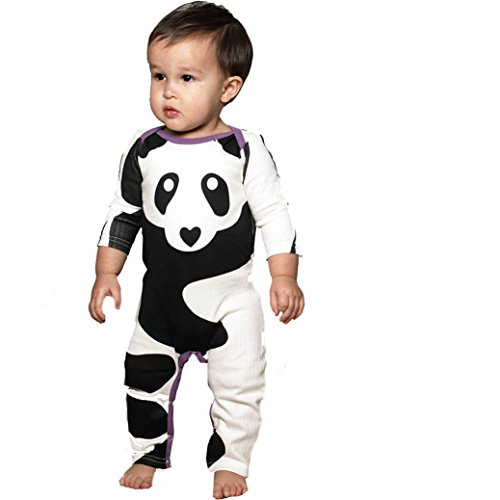 [TIFENNY Infant Baby Boys Girls Panda Print Romper Jumpsuit Outfits Clothes (18M)] (Panda Outfits For Babies)