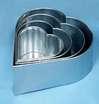 Professionelle Kuchenformen Herz 4 Schichten Herzformige Backformen