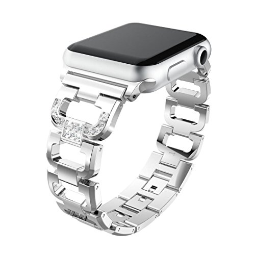 Kanzd Stainless Steel Bracelet Smart Watch Band Strap For Apple Watch Series 3 38MM/42MM (Silver, 38mm) ()