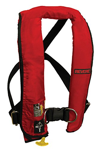 Revere ComfortMax Inflatable PFD Manual Harness Vest, Red