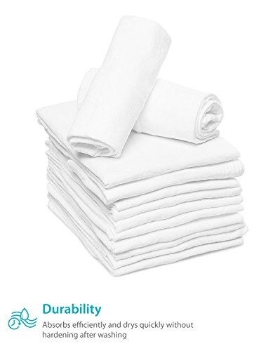 Zeppoli 12-Pack Flour Sack Towels - 31'' x 31'' Kitchen Towels - Absorbent White Dish Towels - 100% Ring Spun Cotton Bar Towels by Zeppoli (Image #6)
