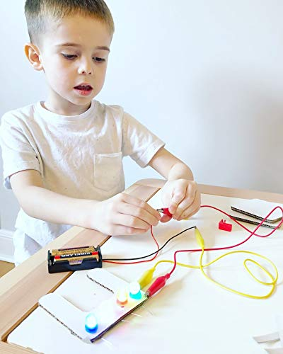Cardboard Construction Kit with LED Lighting - Educational with Over 900 Pieces, Perfect for Learning STEM, STEAM, and Circuits in School and at Home by 3DuxDesign GOBOXPRO10 by 3DUX DESIGN (Image #3)