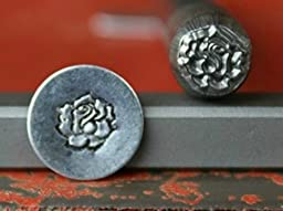 Supply Guy 7mm Rose Flower Metal Punch Design Stamp 375-8