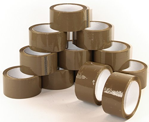 Klebeband Braun 12 Rollen je 66m Paketklebeband Packband Paketband Pack Band Verpackungsklebeband 088