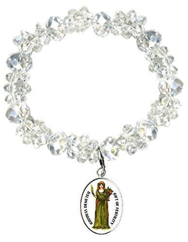 Demeter Costumes (Goddess Demeter Gift of Fertility Silver Charm Crystal Bracelet)
