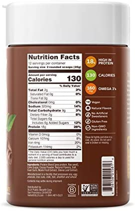 OLLY Plant Powered Protein, Protein Powder, 14.8 oz (12 Servings), Pure Chocolate, 18g Plant Protein, Vegan 3