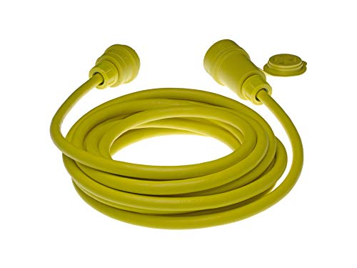 Woodhead 28W47A103 Watertite Wet Location Locking Blade Cordset, 3 Wires, 2 Poles, NEMA L5-30 Configuration, 10-Gauge SOOW Cord, Yellow, 30A Current, 125V Voltage, 25ft Cord Length by Woodhead (Image #2)
