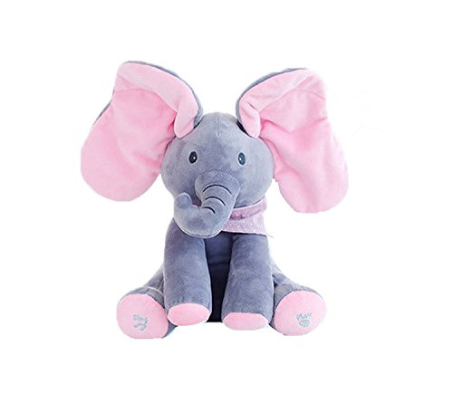 TONGROU New Elephant Plush Toy Singing Stuffed Animated Kids Doll (The Raven Simpsons Halloween)