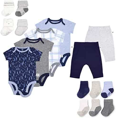 617c66621ab2 Fruit of the Loom Baby Gift Set 16-Piece Breathable Cooling Mesh Bodysuits,  Pants