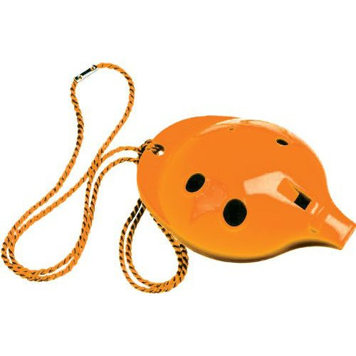 Ocarina Workshop OC-Ocarina o a 4 fori, colore: arancione OC-OR