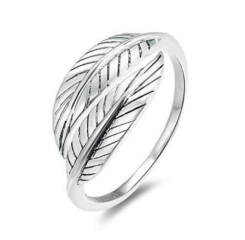 - Energy Stone Feather Embrace Sterling Silver Open Shank Stacking Ring (Style# ST05) (7)