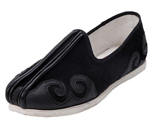 Insun Mens Cotton Old Beijing Kung Fu Shoes Black 1 KpB9qhxo