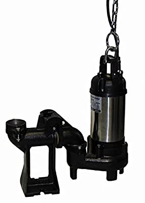 "STANCOR SE-100/115/1 Avenger Series Submersible Non-Clog Effluent Pump Model, 115V, 1 Phase, 1 hp, 2"" Discharge, 33' Cable"
