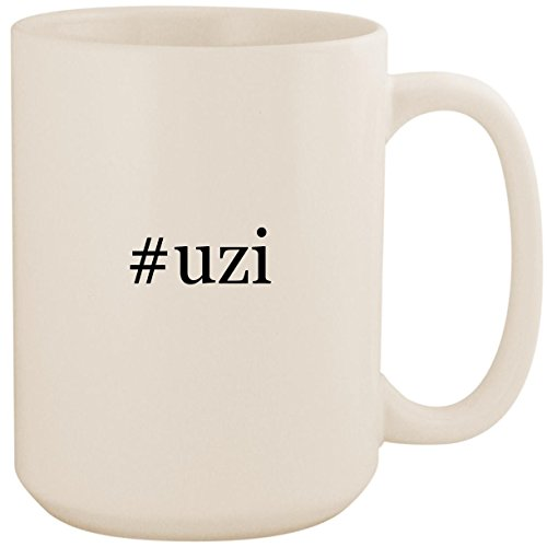 (#uzi - White Hashtag 15oz Ceramic Coffee Mug Cup)