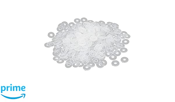 uxcellM3 PE Plastic Flat Washers Spacers Gaskets Fastener Clear 200PCS