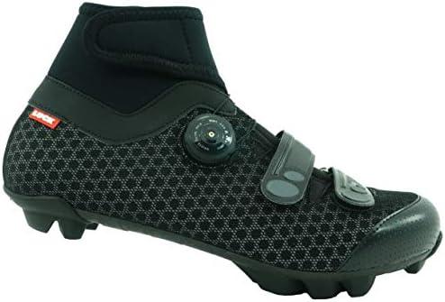 LUCK Zapatillas de Ciclismo para Invierno Winter MTB, con Suela de Carbono SHD, y Sistema rotativo de precisión acompañada de 2 velcros.