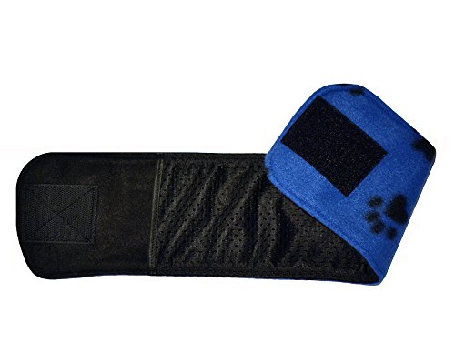 Product image of Belly Band for Male Dog Training and Incontinence (Blue Paw Print) (X-Small: 11