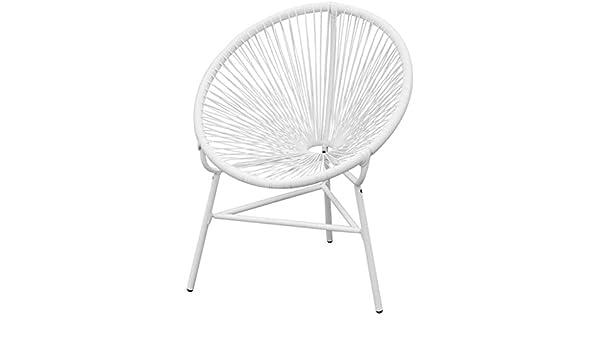 tiauant Mobiliario Mobiliario de Exterior Asientos de Exterior Sillas de Exterior Silla de Jardin de Ratan PE Blanca Fundas para sillas de jardinMaterial: Polietileno: 100%: Amazon.es: Jardín