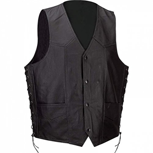 Diamond Plate Solid Genuine Leather Vest- 4x