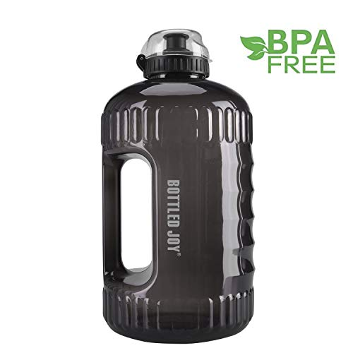 BOTTLED JOY Water Bottle, 2.2L Large Water Jug with Handle BPA Free Plastic Sports Water Bottle Wide Mouth and Leakproof Gallon Water Bottle for Outdoor Gym Travel Office Home – DiZiSports Store