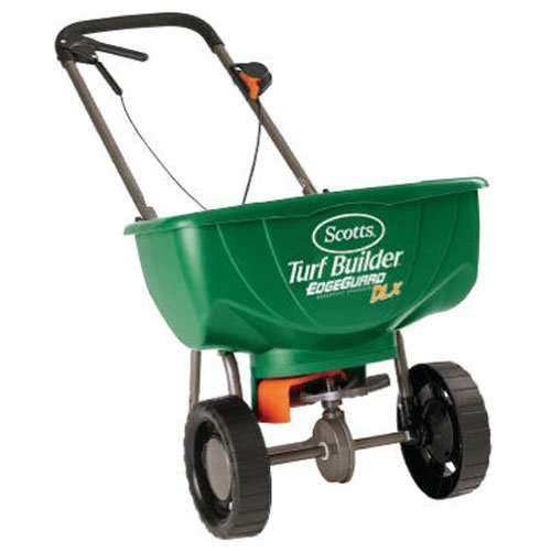 Scotts Turf Builder Pro EdgeGuard Deluxe Broadcast Spreader , 15m - -