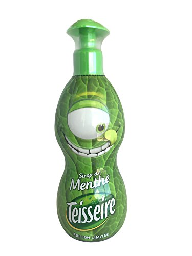 Teisseire Mint Concentrated Mint Syrup Large hard plastic bottle 700ml -