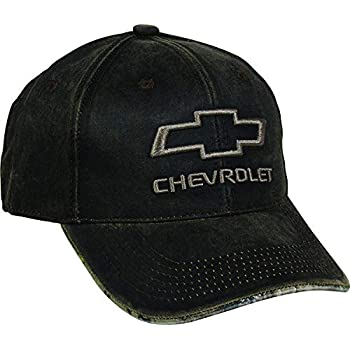 Outdoor Cap Mens Chevrolet Weathered Cap with Camo Under Visor, Brown/Realtree Edge, Chevy Hat