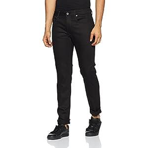 G-Star Raw Men's 3301 Slim-fit Pant in Black Edington Stretch Denim Raw