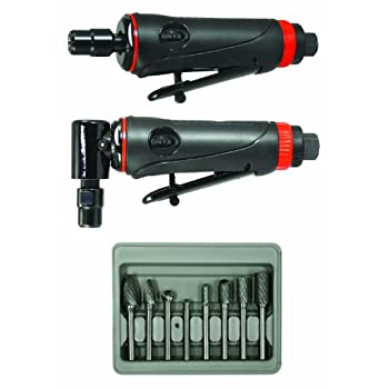 Image of Astro Pneumatic Tool 219 ONYX 3pc Die Grinder Kit w/ 90° Die Grinder, Die Grinder & 8pc Double Cut Carbide Rotary Burr Set