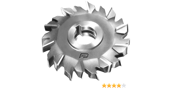 4 Diameter 3//4 Width of Face High Speed Steel F/&D Tool Company 10807-A454 Side Milling Cutter 1.25 Hole Size