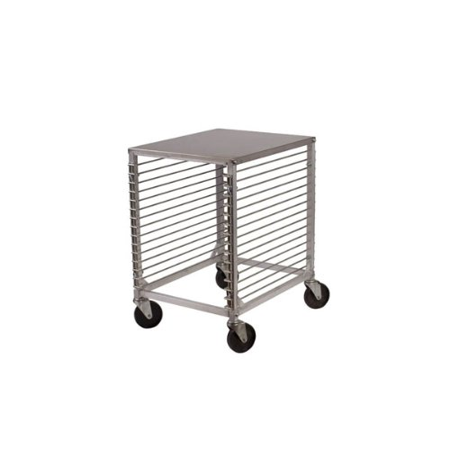 (Winco ALRK-15 15-Tier Aluminum Sheet Pan Rack with Hard Top and Wire Slides)