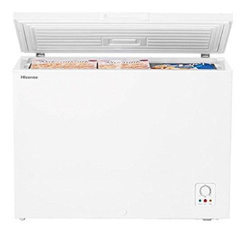 HISENSE Congelador Horizontal FC325D4AW1 Clase A la Capacidad Máxima Neta 252% 2F %2F250 L, Color Blanco