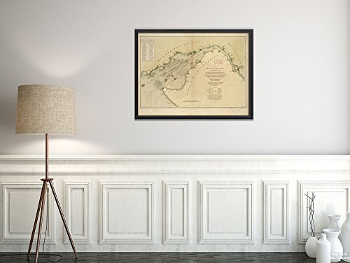 1776 Map Delaware River A Chart of Delaware Bay and River, containing a Full and Exact Description o|Historic Antique Vintage Reprint|Ready to Frame