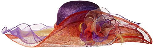 Scala Women's Fashion Big Brim Hat, Multi, One Size by Scala