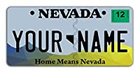 "BleuReign(TM) Personalized Custom Name State Bicycle Bike Moped Golf Cart 3""x6"" License Plate Tag"