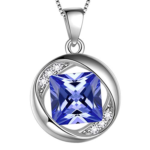 - Aurora Tears June Birthstone Pendants Women 925 Sterling Silver Birthday Necklaces Girls Birthstones Dating Gift Jewelry Created-Light-Amethyst Necklace DP0029U