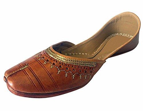 Step n Style Women Patiala Jutti Salwar Kameez Ethnic Shoes Flat Sandals ()